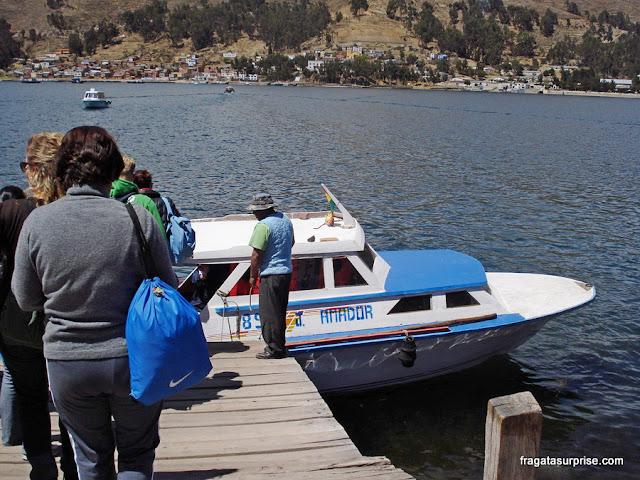 Travessia do Estreito de Tikina, Lago Titicaca, Bolívia