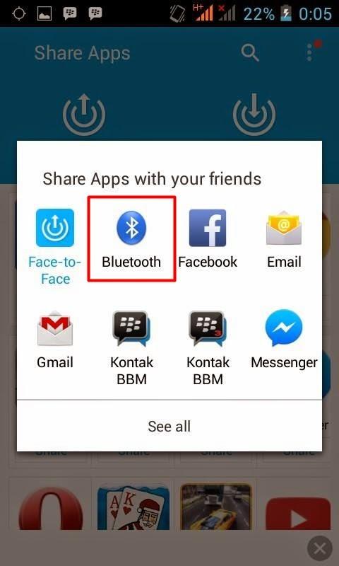 Cara Mengirim Apilkasi Di Android Dengan Share Apps
