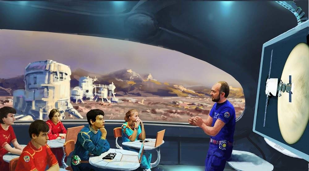 CCCP-2061 प्रतियोगिता के लिए इगोर साविन द्वारा मंगल पर कक्षा