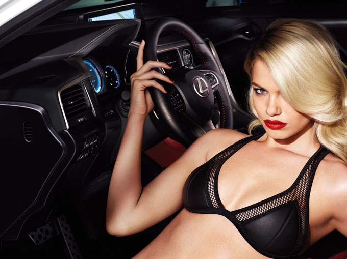 Hailey Clauson advertising Lexus