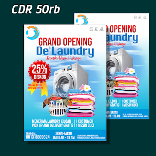 Template Brosur/Flyer Laundry CDR