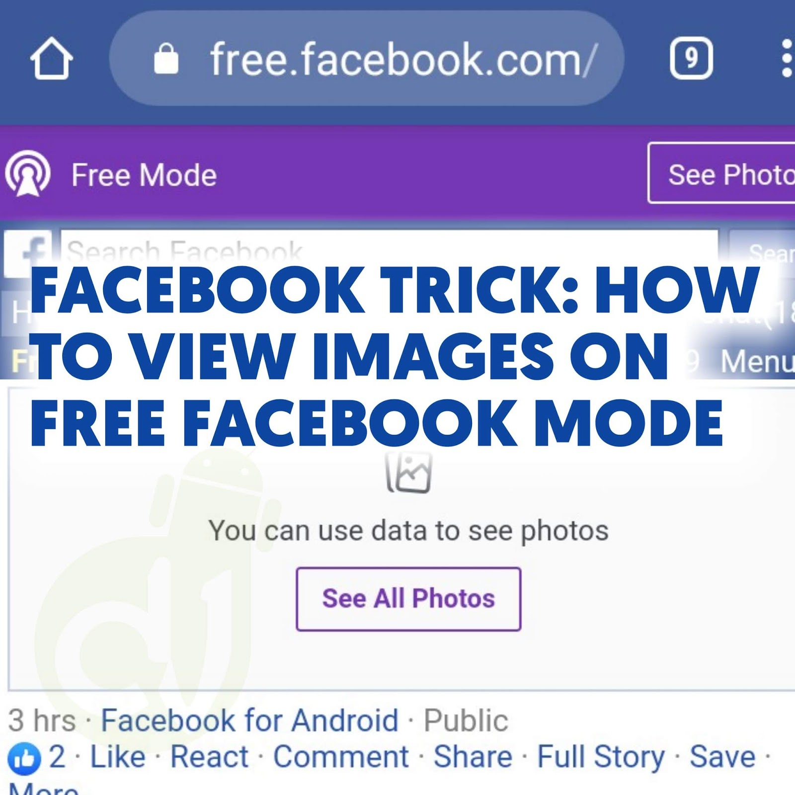 See pictures Facebook freemode