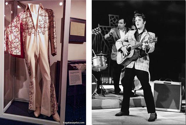 Traje de Elvis Presley exposto no Rock'n'Soul Museum de Memphis