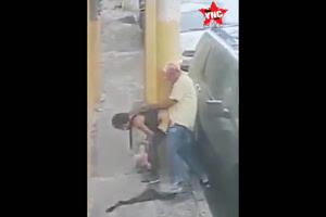 Dominicano pago un cuero y la coge en la calle