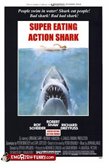 super eating action shark engrish funny jaws film poster
