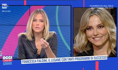 Francesca Fialdini qualche anno fa a uno mattina