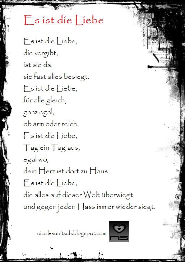 Gedichte von Nicole Sunitsch - Autorin : Es ist die Liebe