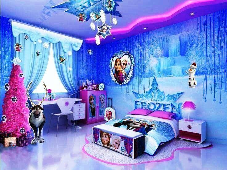 Gambar Kamar Tidur Anak Perempuan Frozen Minimalis