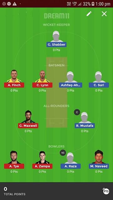 UAE vs AUS T20 Match Dream11 Prediction