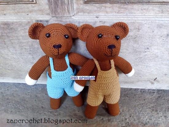 Mr. Bean Teddy ♡ #crochet #häkeln #amigurumi pattern by ...   413x550