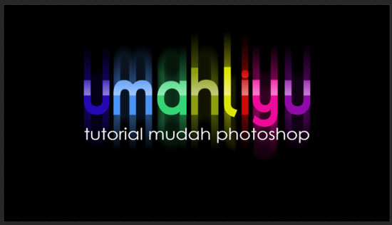 text rainbow effect dengan photoshop