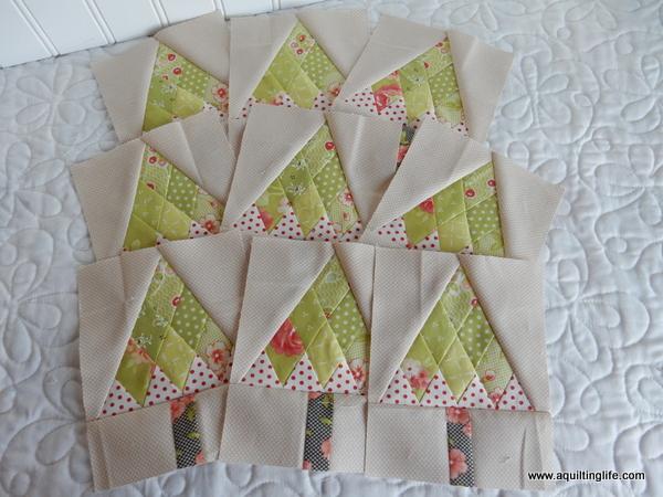 Mini Christmas Tree Quilt Blocks