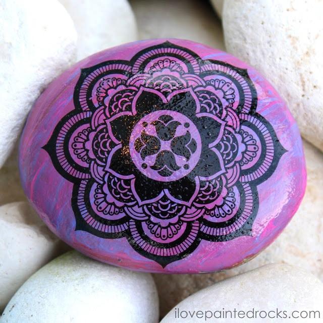 mandala rock painting ideas