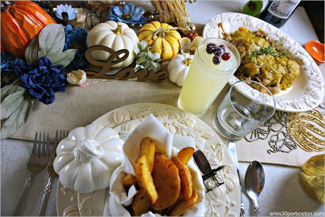 Cena de Acción de Gracias en Boston