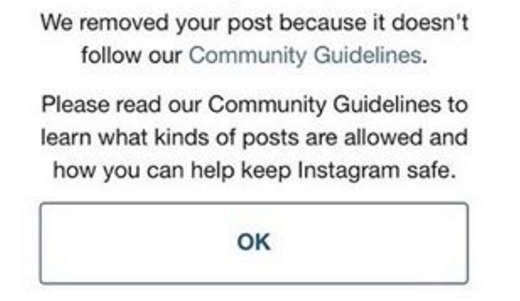 Sex post on instagram
