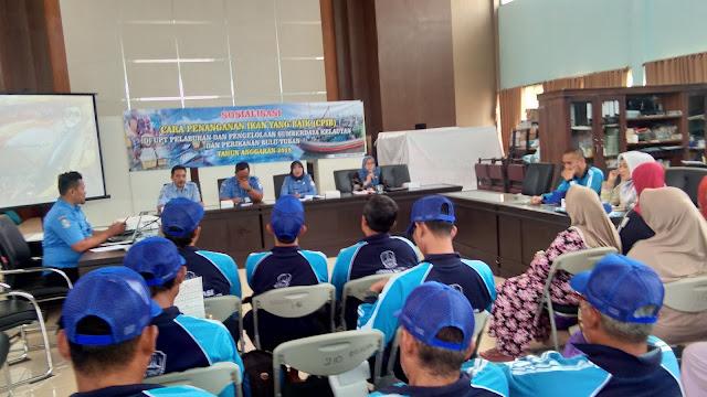 Tingkatkan Mutu Ikan Hasil Tangkapan, P2SKP Bulu Sosialiasi CPIB ke Nelayan