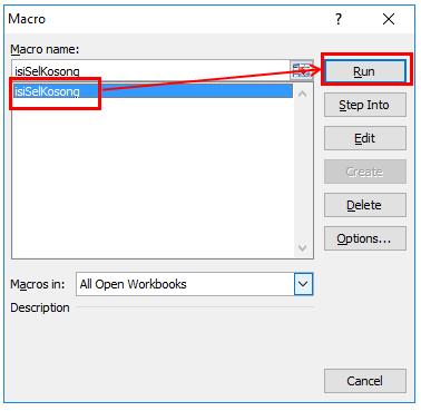 Isi Sel Kosong Dengan VBA Excel