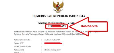 nomor NIB