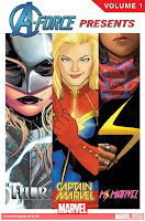 a-force presents volume 1 with Black Widow, She-Hulk, Thor, Captain Marvel, Ms Marvel and The Unbeatable Squirrel Girl graphic novel comic book