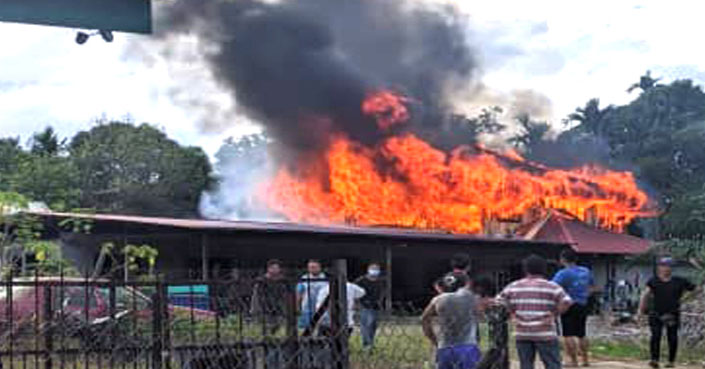 RANAU | Keluarga Tinggal Sehelai Sepinggang - Rumah Terbakar