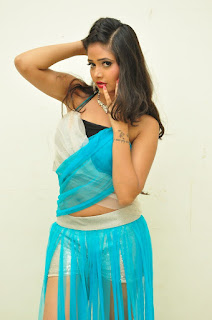 Shrevya Vyaas in beautiful shorts and blue top at 24 Movie Audio Launch