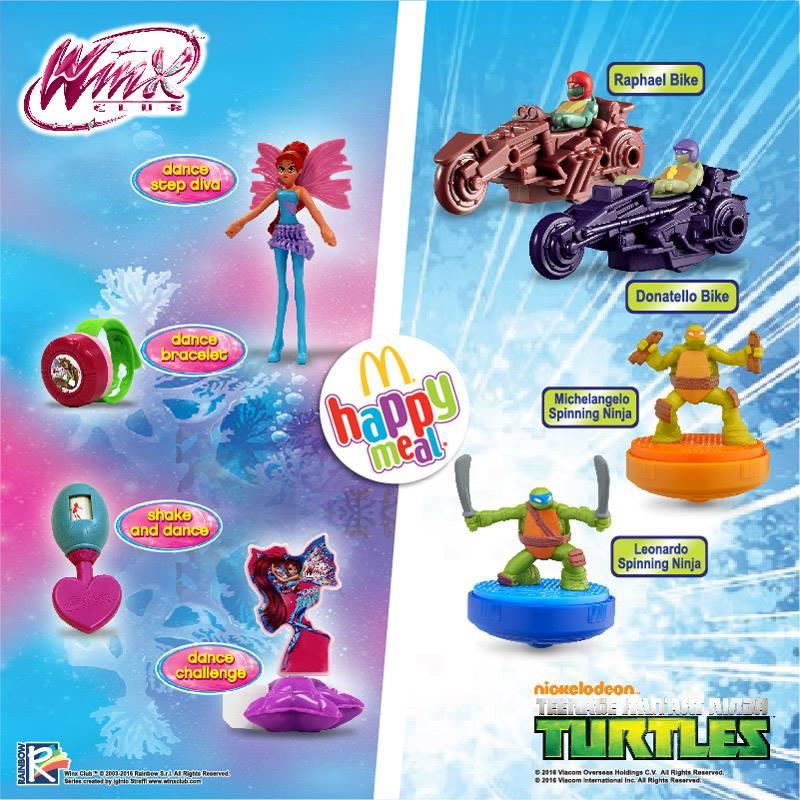 Promo McDonald Happy Meals Dapatkan Koleksi Mainan Winx dan Teenange Mutant Ninja Turtles Gratis