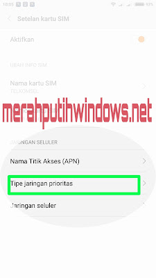 jaringan prioritas