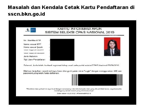 Masalah dan Kendala Cetak Kartu Pendaftaran di sscn.bkn.go.id