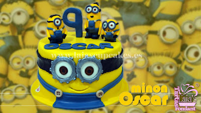 tarta personalizada fondant modelado molde minion oscar laia's cupcakes puerto sagunto