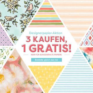 Designerpapier Aktion 3 kaufen 1 Gratis
