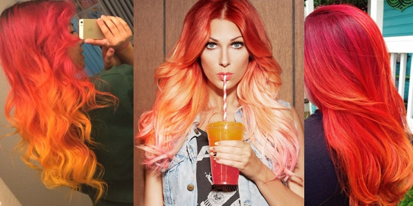 Different Hair Colors And Styles: A Month In Hair Colors! Today: Shades Of Fire!