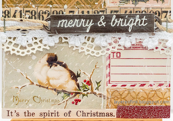 Layers of ink - Design Tape and Stickers Christmas Tag Tutorial by Anna-Karin Evaldsson.
