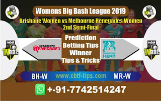 Who will win Today WBBL 2019, Semi Final Match Renegades vs Brisbane - Cricfrog