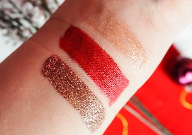 Glitter makeup picks swatches