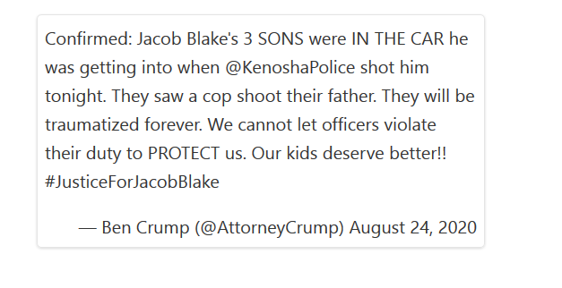 Who Is Jacob Blake? Wisconsin Man in Serious Condition After Police Shot Him in the Back 7 Times