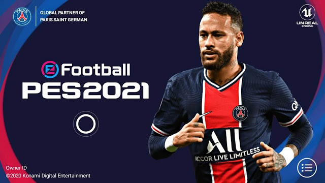 eFootball PES 2021 Mobile Patch V5.0.0 Android Best Graphics New Menu Full Original Logo and Kits 21 Update