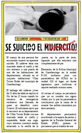 Transgénero se suicida