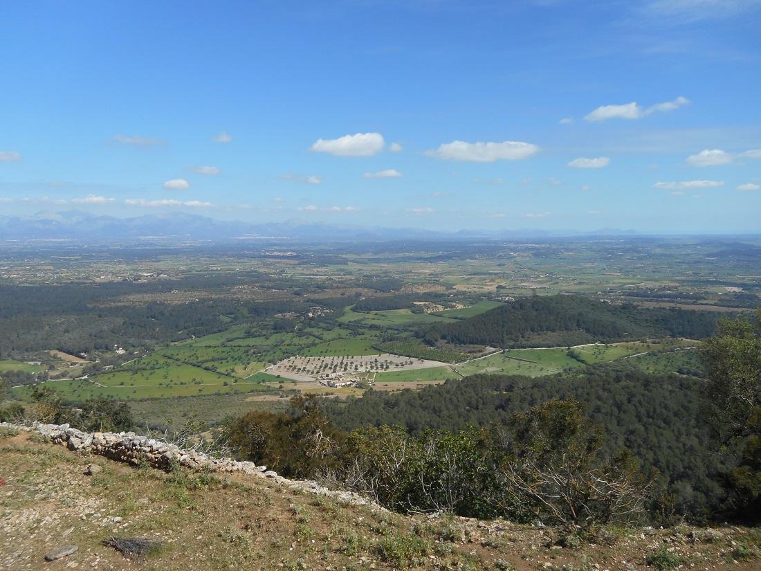 Vista dal santuario sopra Randa