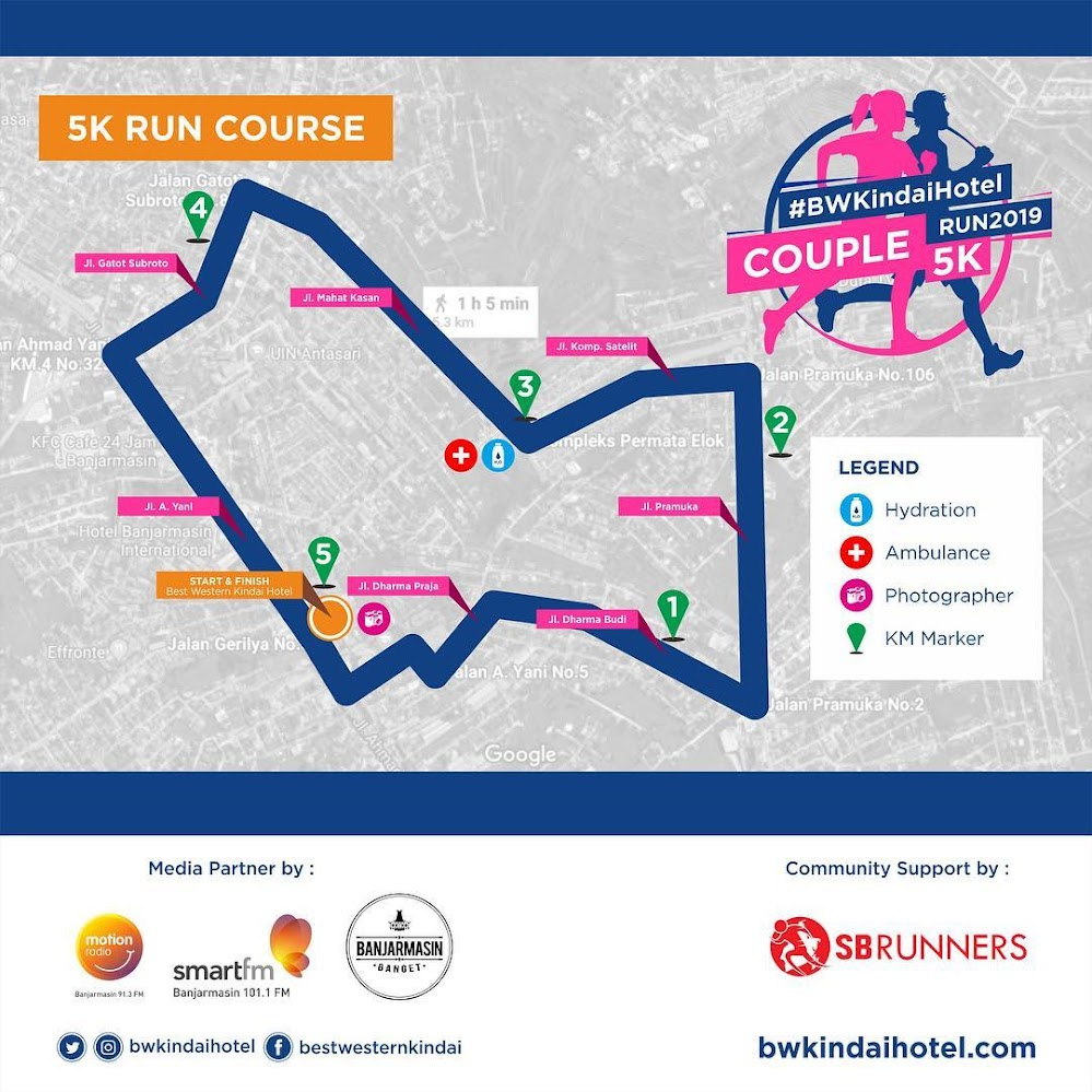 Rute BW Kindai Hotel Couple Run • 2019