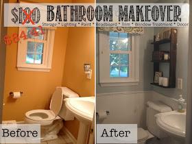 bathroom makeover, powder room, bathroom makeover budget, rachael ray