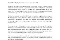 RCTI mencabut tuntutannya ke ninmedia