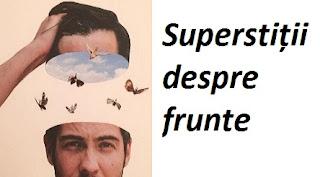 Superstiții despre frunte