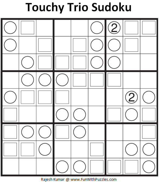 Touchy Trio Sudoku (Daily Sudoku League #139)-Fun With Puzzles