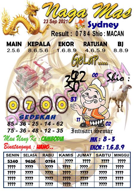 Syair Nagamas Sdy Kamis 23 September 2021