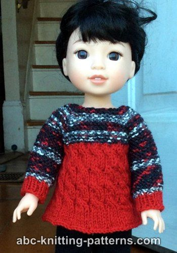 18b530d0ada03 abc-knitting-patterns.com has some fantastic patterns and I love this  sweater for the Wellie Wishers Dolls. I don t have one of these dolls  myself but it is ...