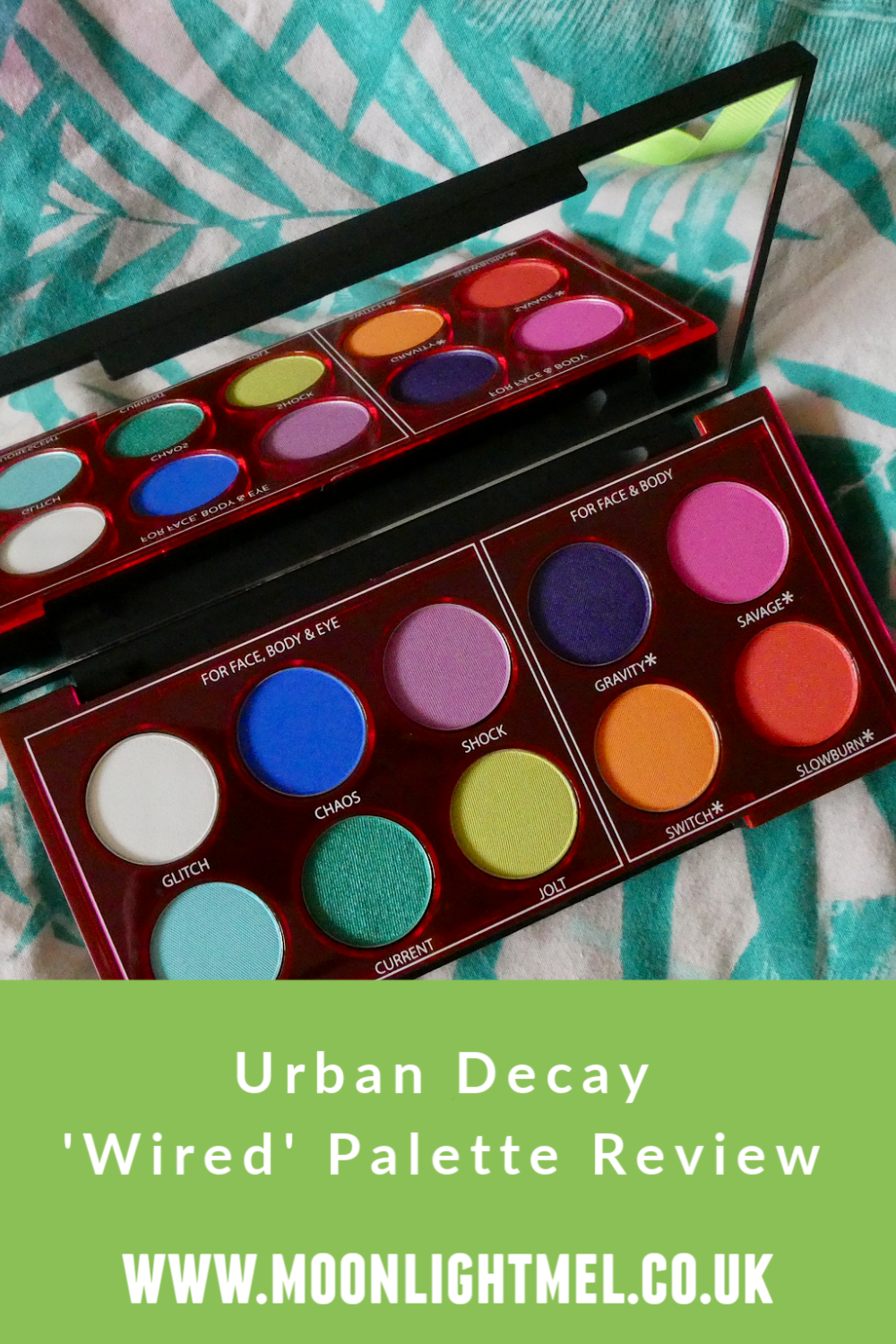 Urban Decay Wired Pressed Pigment Palette | Review