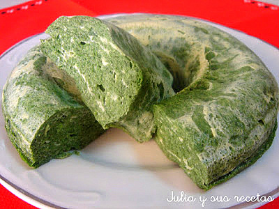 Pastel de espinacas y requesón. Julia y sus recetas