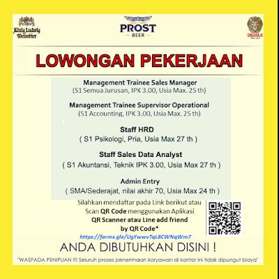 Loker Medan SMA SMK D3 S1 Maret 2020 PT Anugrah Karya Prima
