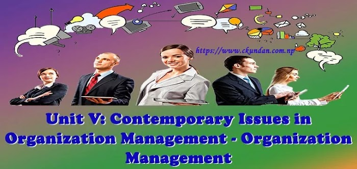 Unit V: Contemporary Issues in Organization Management - Organization Management