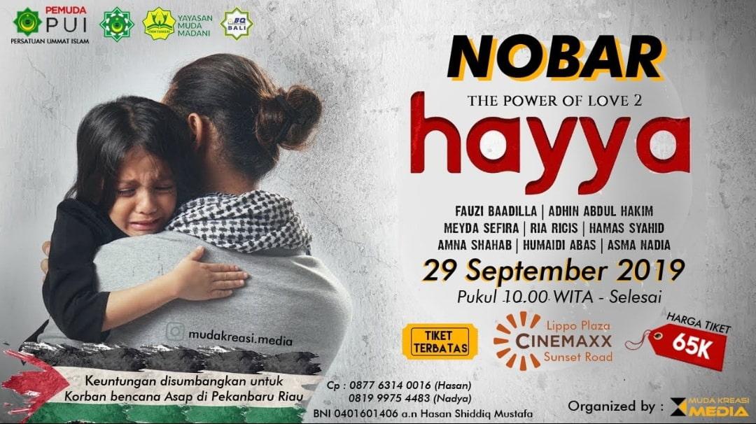 Nobar Film Hayya di Bali